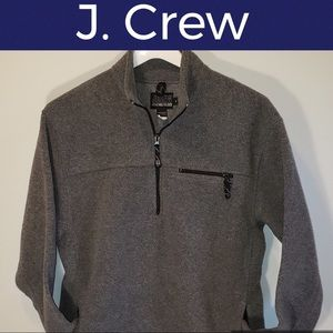 🕶Pullover 1/4 Zip Lightweight Jacket-J. Crew-Gray
